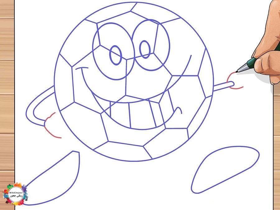 توپ فوتبال کارتونی