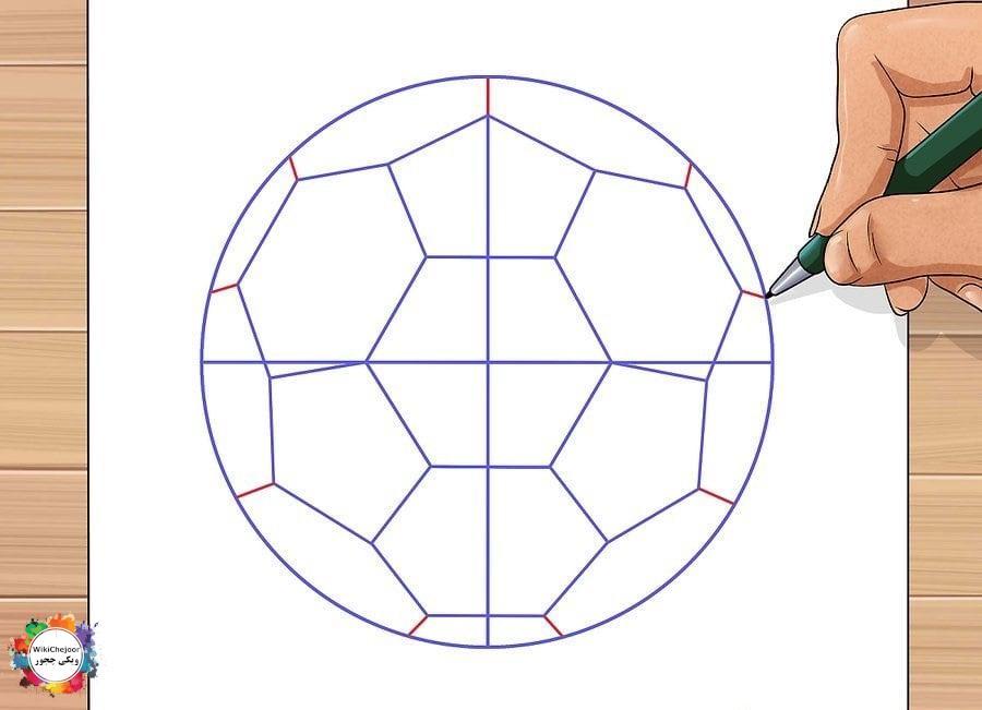 نقاشی توپ فوتبال ساده