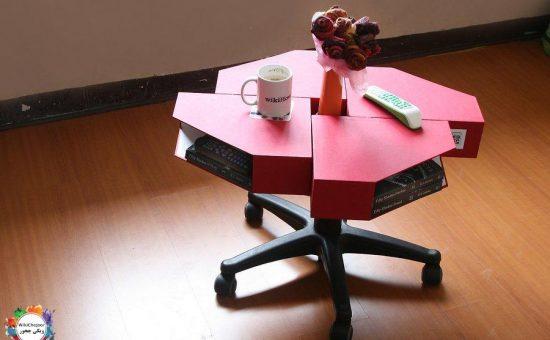 چگونه یک میز قهوه از نگهدارنده مجله درست کنیم؟