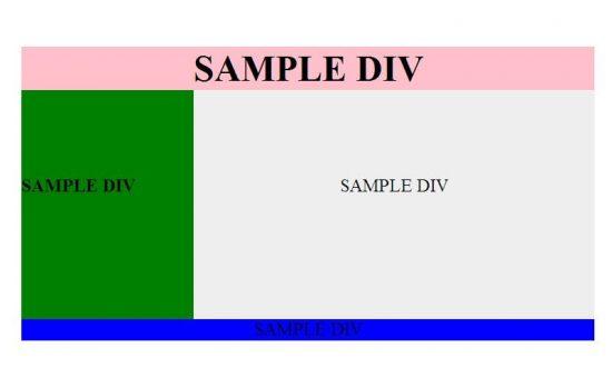 چگونه یک صفحه وب ساده را در div طراحی کنیم؟