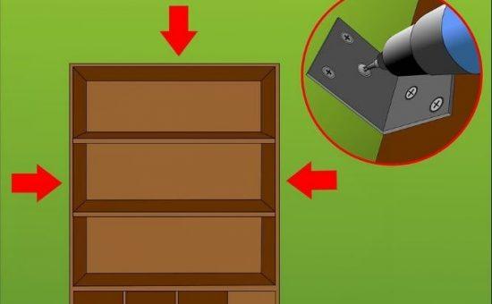 چگونه می توان یک قفسه کتاب را بر روی دیوار محکم کرد؟