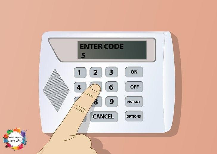سیستم امنیتی هشدار دهنده نصب کنید