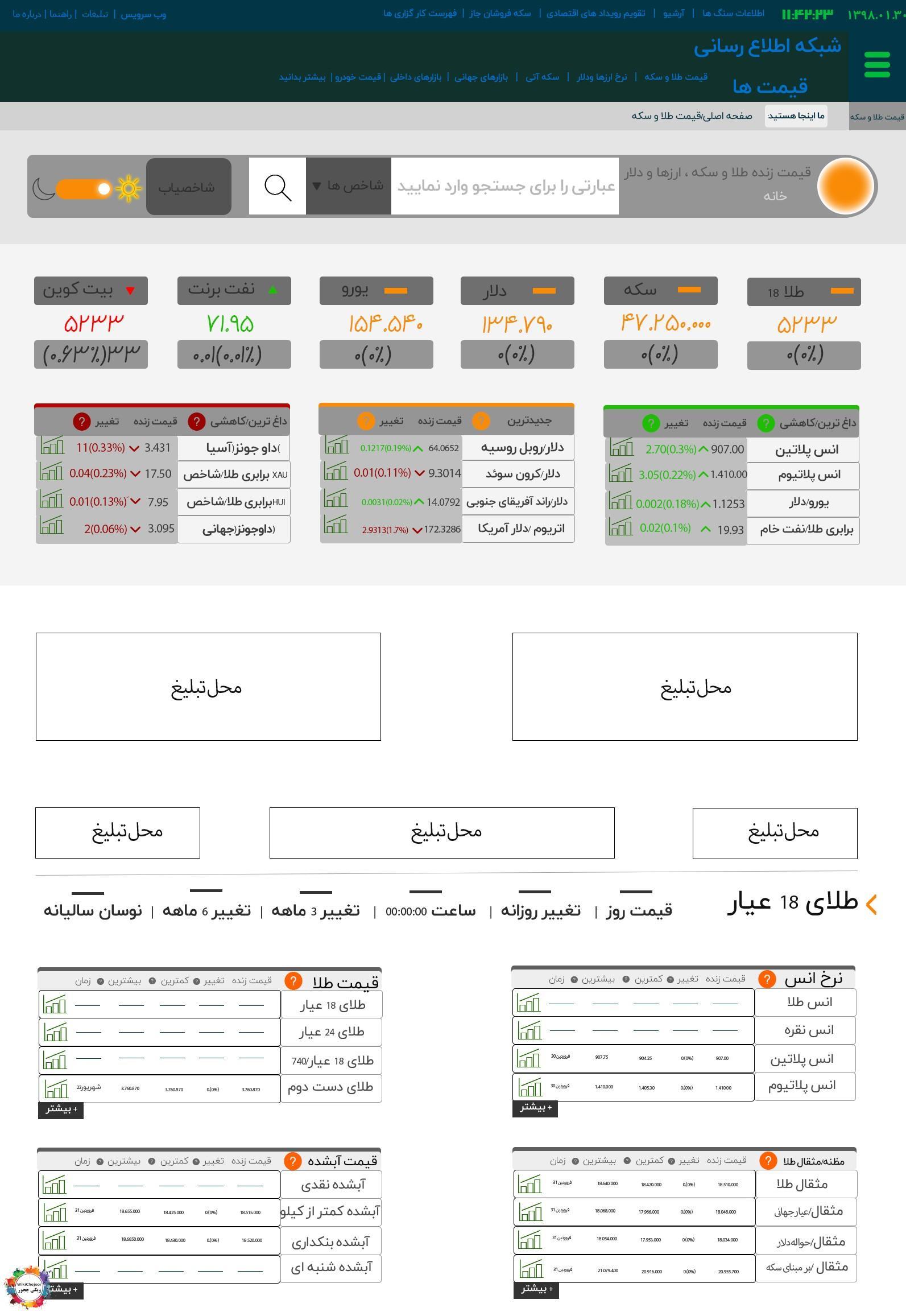 مراحل ایجاد mainسایت به کمک فتوشاپ (طراحی جدول طلا  )