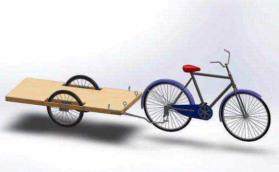 چگونه برای دوچرخه یدک بسازیم