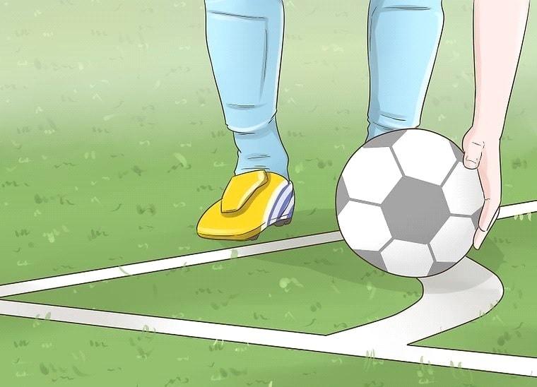 توپ را در قوس کرنر قرار دهید: