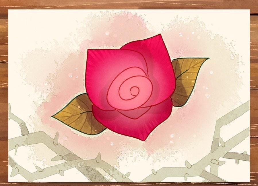 چگونه یک گل رز بکشیم؟