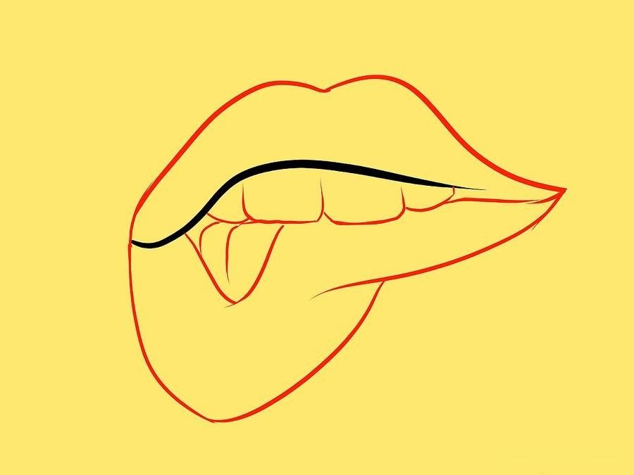 روش دوم نقاشی دهان