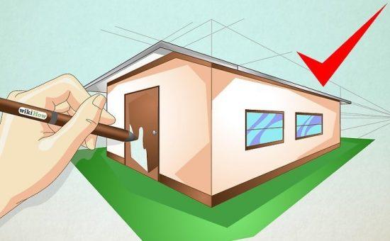 چگونه یک خانه ساده رسم کنیم؟