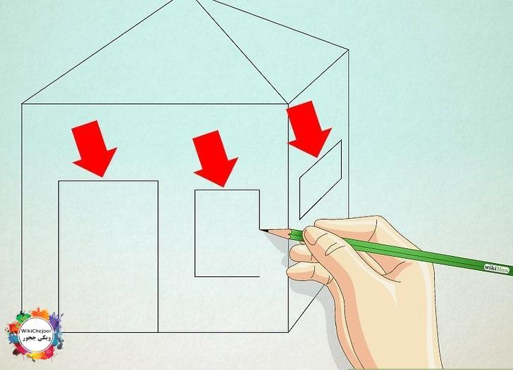 نقاشی خانه طرح سه